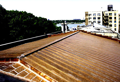 Copper Standing Seam Roofing – Copper Flat Seam Roofing - Hispanic Society of America – New York City