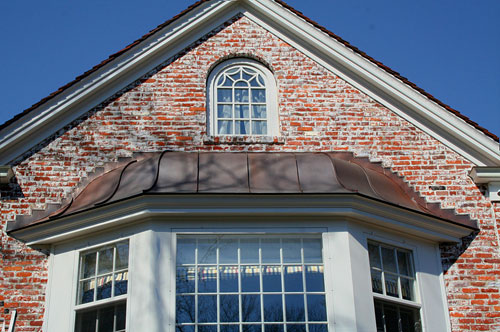Bell Shaped Copper Standing Seam Roof at Bay Window - Greenwich, CT